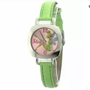 🍄Disney Tinkerbell Girl Green Band Watch